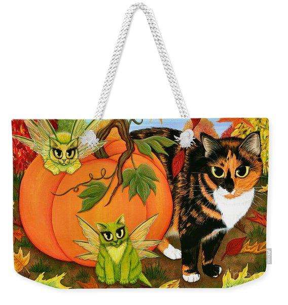 Calico's Mystical Pumpkin Weekender Tote Bag