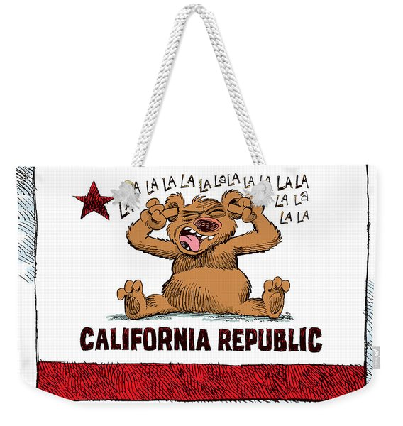 California Budget La La La Weekender Tote Bag