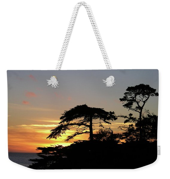 California Coastal Sunset Weekender Tote Bag