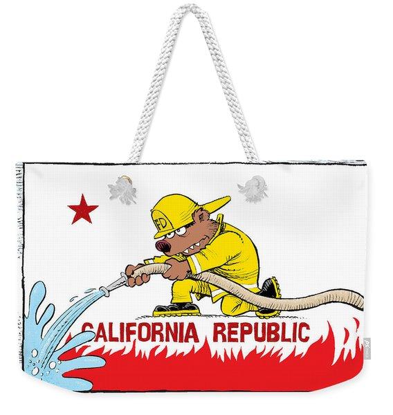 California Firefighter Flag Weekender Tote Bag