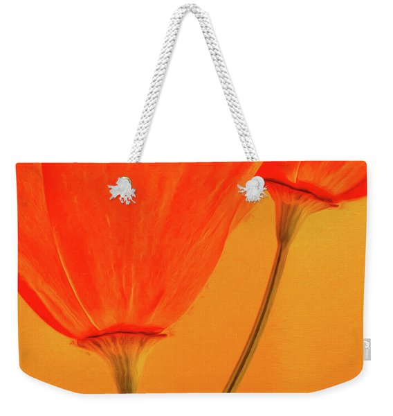 California Poppies Painterly Effect Weekender Tote Bag