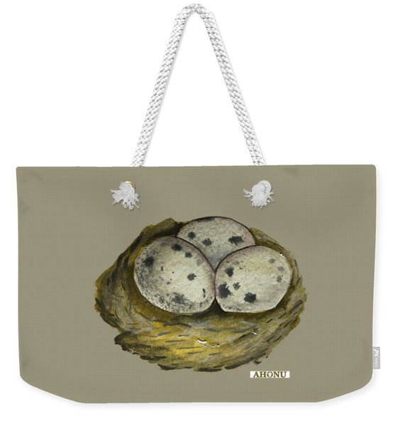 California Quail Eggs In Nest Weekender Tote Bag