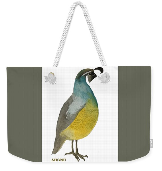 California Quail Posing Weekender Tote Bag