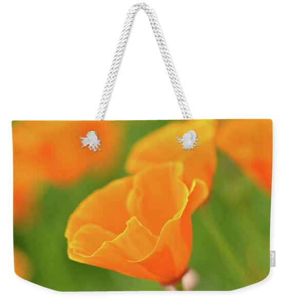 California Spring Poppy Macro Close Up Weekender Tote Bag