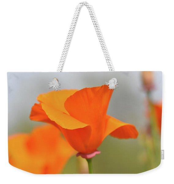 California State Poppy Macro Weekender Tote Bag
