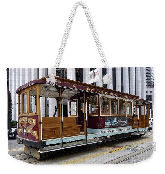 California Street Cable Car Weekender Tote Bag