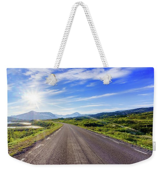 Weekender Tote Bag featuring the photograph Call Of The Road by Dmytro Korol