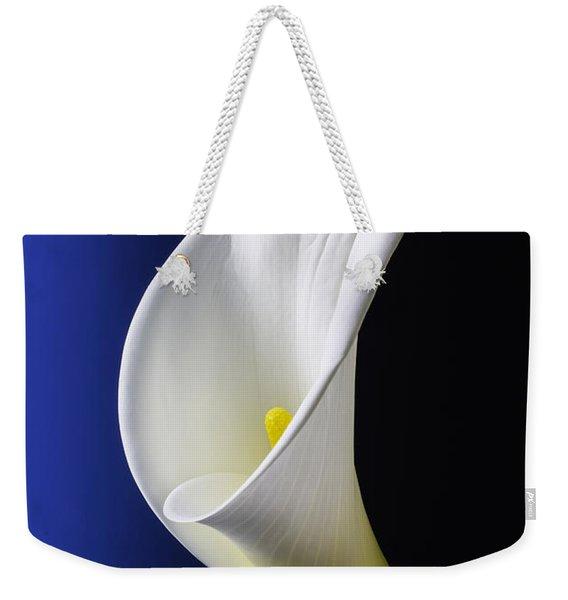 Calla Blue Black Weekender Tote Bag