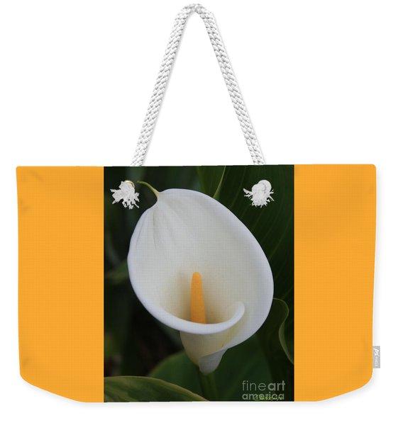 Perfect White Calla  Weekender Tote Bag