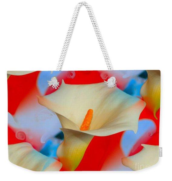 Splashy Calla Lilies Weekender Tote Bag