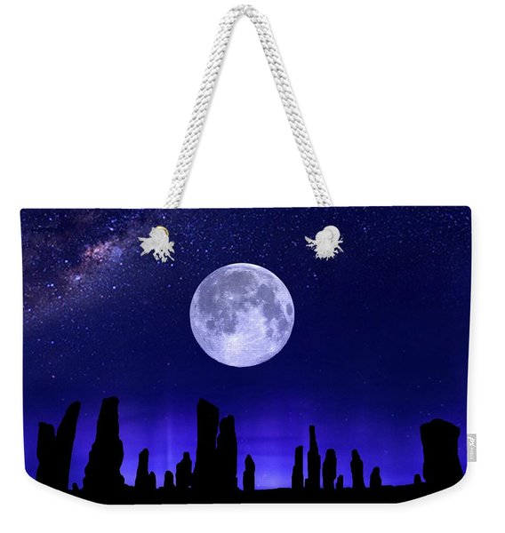 Callanish Stones Under The Supermoon.  Weekender Tote Bag