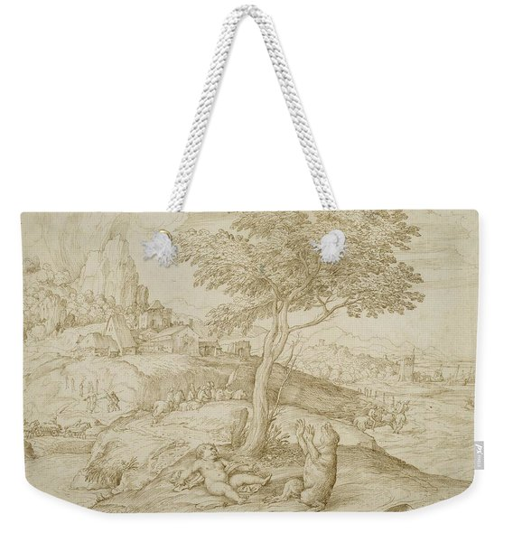 Callisto's Transformation Into A Bear After Giving Birth To Arcas Weekender Tote Bag