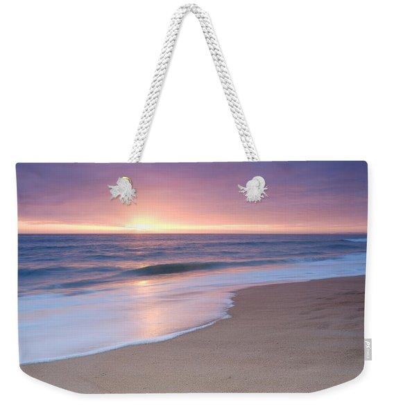 Calm Beach Waves During Sunset Weekender Tote Bag