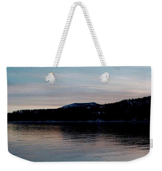 Calm Blue Lake Weekender Tote Bag