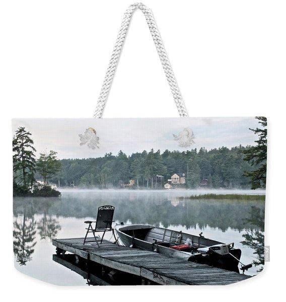 Calm Morning On Little Sebago Lake Weekender Tote Bag