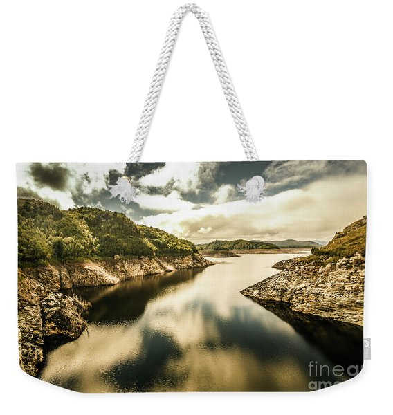 Calm Still Water Reflections Weekender Tote Bag