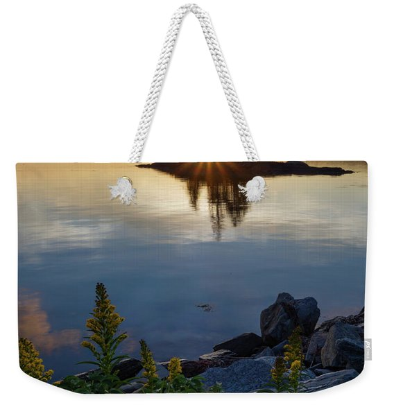 Calm Water At Sunset, Harpswell, Maine -99056-99058 Weekender Tote Bag