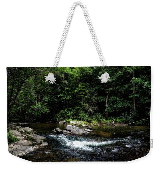 Calming Rapids Weekender Tote Bag