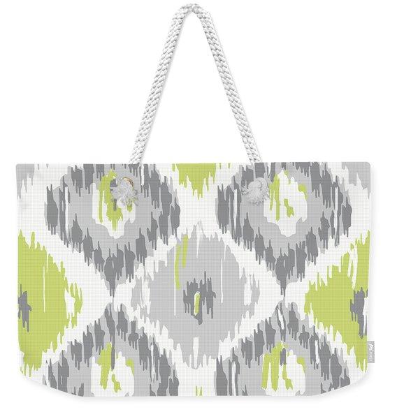Calyx Ikat Pattern Weekender Tote Bag