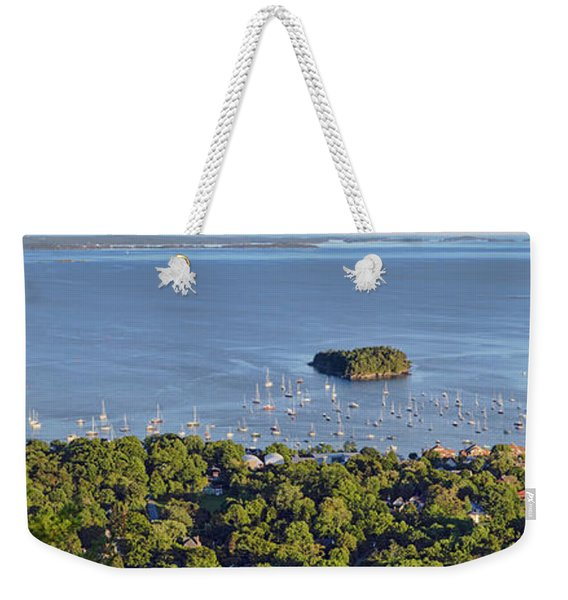 Weekender Tote Bag featuring the photograph Camden Harbor, Camden, Maine  -33769-33774 by John Bald