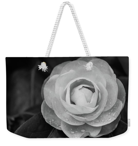 Camellia Black And White Weekender Tote Bag
