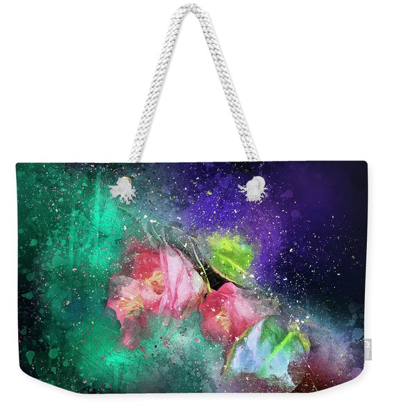 Camellias In A Galaxy Far Far Away Weekender Tote Bag