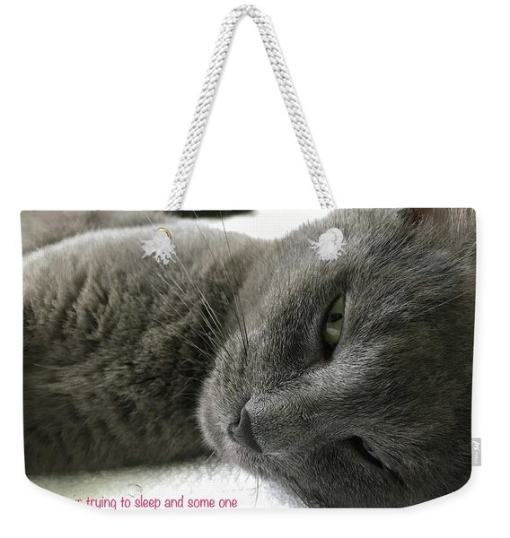Weekender Tote Bag featuring the photograph Resting Face by Debbie Cundy