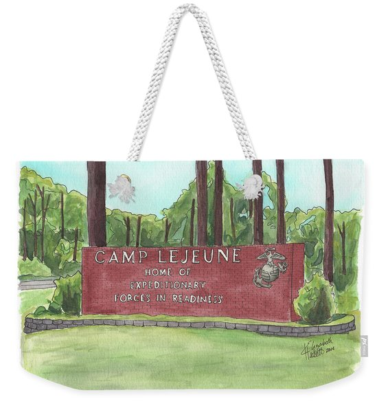 Camp Lejeune Welcome Weekender Tote Bag
