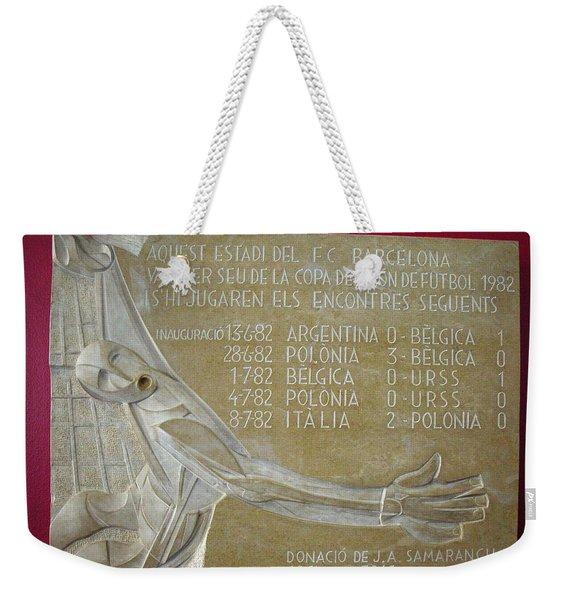 Camp Nou 1982 Weekender Tote Bag