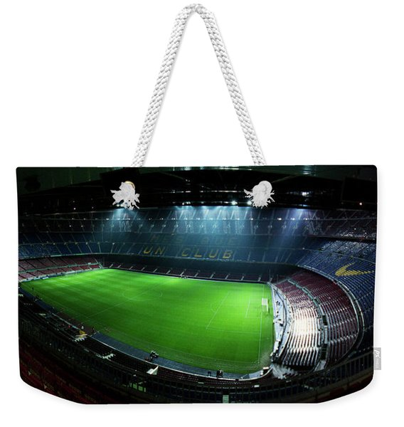 Camp Nou At Night Weekender Tote Bag
