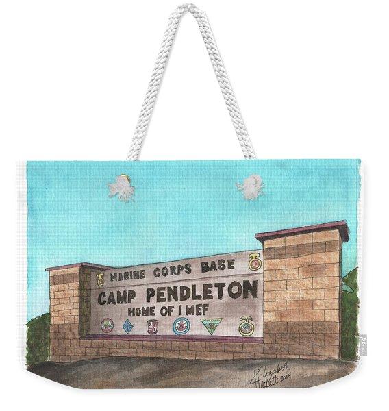Camp Pendleton Welcome Weekender Tote Bag