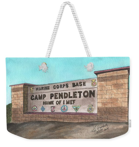 Camp Pendleton Welcome Weekender Tote Bag