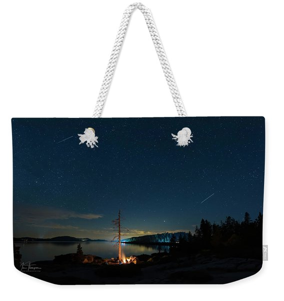 Weekender Tote Bag featuring the photograph Campfire 1 by Jim Thompson