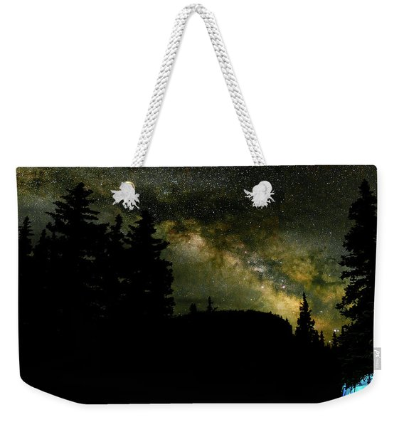 Camping Under The Milky Way 2 Weekender Tote Bag