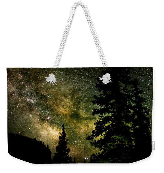 Camping Under The Milky Way Weekender Tote Bag