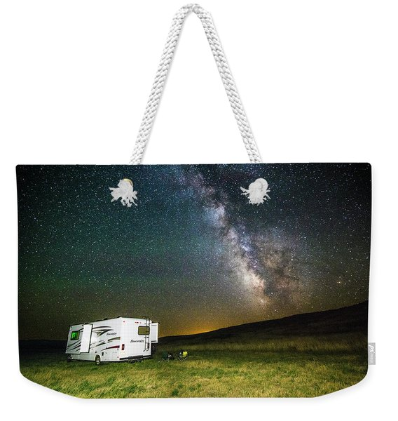 Camping Under The Stars Weekender Tote Bag