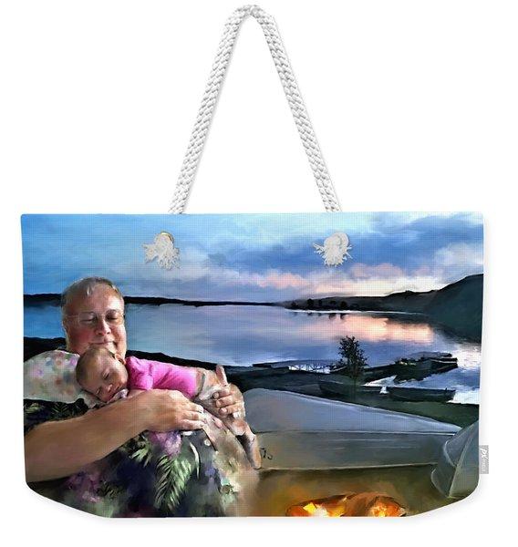 Camping With Grandpa Weekender Tote Bag