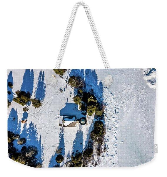 Cana Island Lighthouse Shadow Weekender Tote Bag