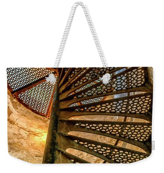 Cana Island Lighthouse Staircase Weekender Tote Bag