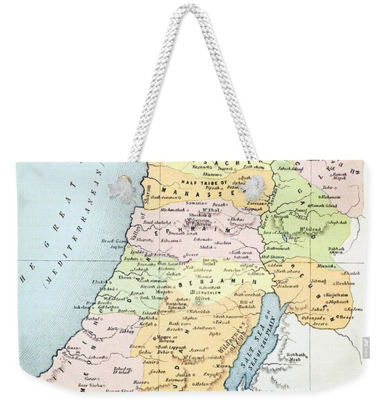 Canaan As It Was Divided Between The Twelve Tribes Of Israel Weekender Tote Bag