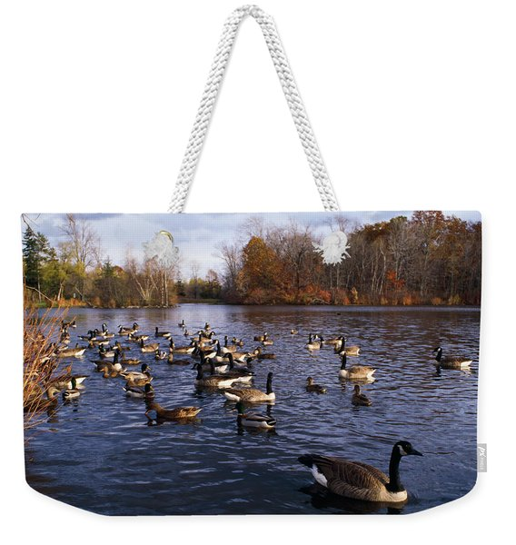 Canada Geese Branta Canadensis Weekender Tote Bag