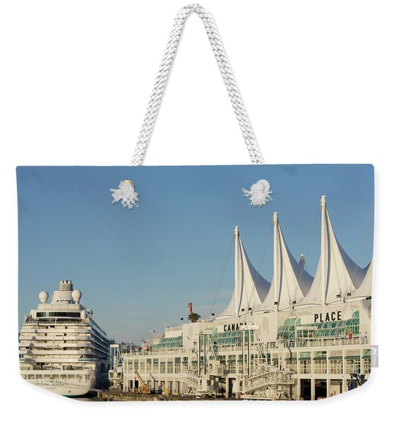 Canada Place Cruise Ship  Weekender Tote Bag