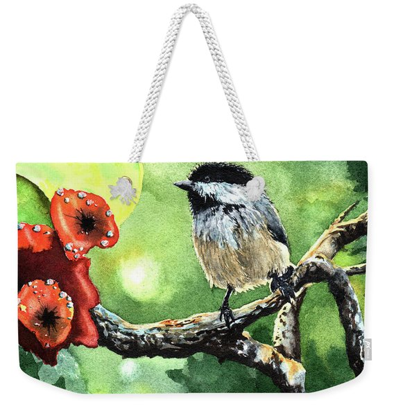 Canadian Chickadee Weekender Tote Bag