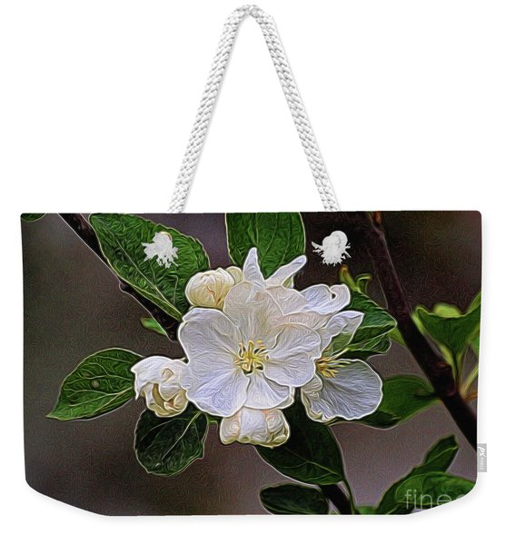 Canadian Dogwood Weekender Tote Bag