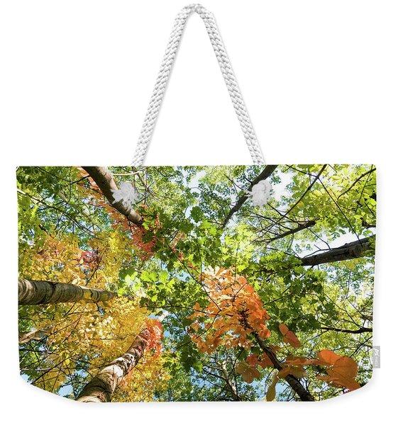 Canadian Foliage Weekender Tote Bag