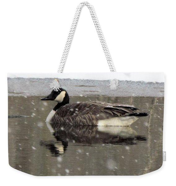 Canadian Goose In Michigan Weekender Tote Bag