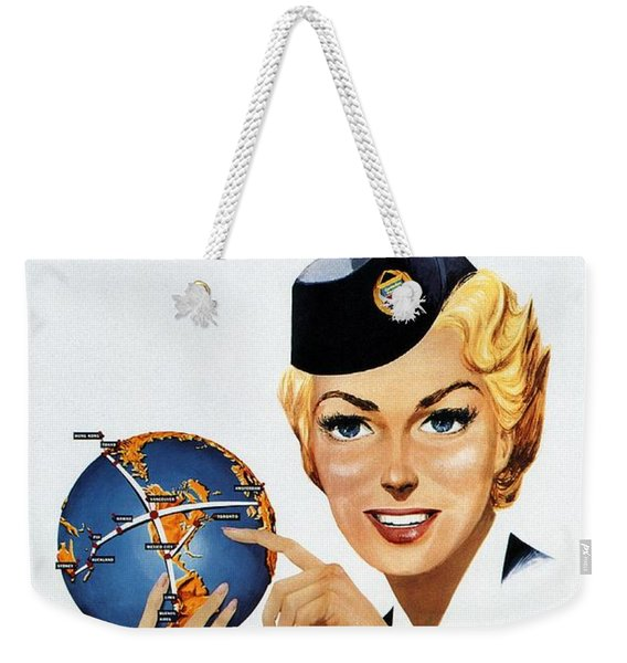 Canadian Pacific Airlines - Straight To The Point - Retro Travel Poster - Vintage Poster Weekender Tote Bag