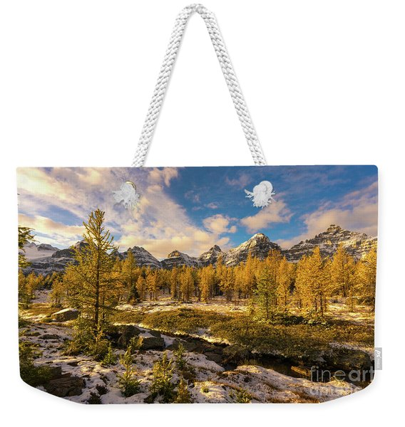 Canadian Rockies Golden Larches In Larch Valley Weekender Tote Bag