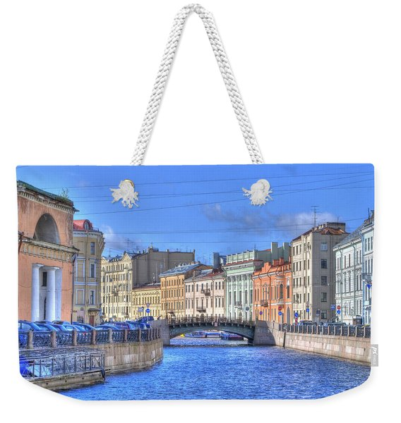 Canal In St. Petersburgh Russia Weekender Tote Bag