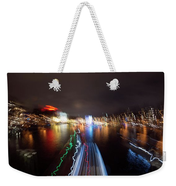Canal Streaking Abstract Weekender Tote Bag